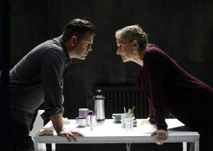 Patrick Baladi and Niamh Cusack in Christmas Eve at Theatre Royal Bath