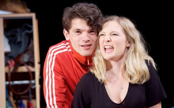 Amy Morgan and Edward Bluemel in Touch, written and directed by Vicky Jones at Soho Theatre