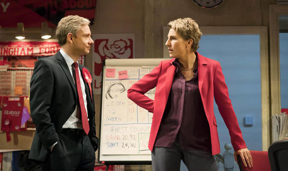 Martin Freeman and Tamsin Greig in Labour of Love reviewed by One Minute Theatre Reviews