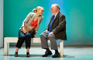Anne-Marie Duff & Kenneth Cranham in Heisenberg The Uncertainty Principle by Simon Stephens at Wyndhams Theatre London