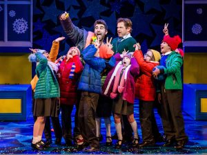 Production photo from Nativity The Musical showing Simon Lipkin, Daniel Boys and children