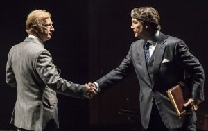Promotional photo for This House at Chichester Festival Theatre showing Steffan Rhodri and Nathaniel Parker. Photo by Johan Persson