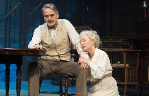 Production shot of Jeremy Irons and Lesley Manville in Long Day's Journey Into Night