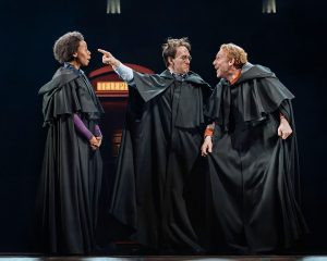 Photo of Noma Dumezweni, Jamie Parker and Paul Thornley in Harry Potter & The Cursed Child at Lyric Theatre New York