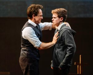 Jamie Parker and Sam Clemmetts in Harry Potter & The Curse Child at Lyric Theatre New York