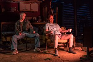 Photo of Adam Gillen and Steffan Rhodri in Killer Joe. Photo by Marc Brenner
