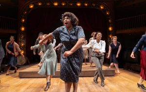 Sophia Nomvete and company in Miss Littlewood at Swan Theatre. Photo by Topher McGrillis