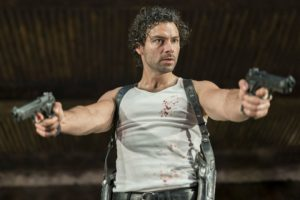 Production photo of Aidan Turner in The Lieutenant Of Inishmore by Martin McDonagh, directed by Michael Grandage