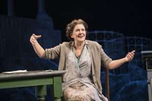Production photo of Clare Burt in Flower For Mrs Harris at Chichester
