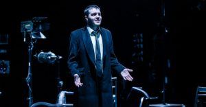 Production photo of Tom Burke in Don Carlos- 2018 production