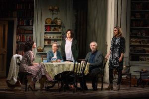Production shot showing cast of The Height Of The Storm at Wyndham's Theatre London