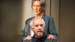 Production shot from The Height Of The Storm by Florian Zeller with Eileen Atkins and Jonathan Pryce