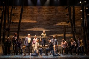 Production shot of Come From Away