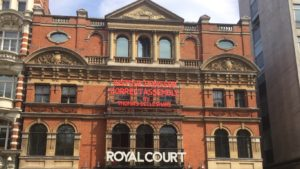Photo of exterior of Royal Court Theatre in Sloane Square London