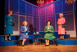 Production shot of Handbagged at Salisbury Playhouse