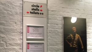 Photo of signage in Donmar Warehouse