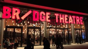 Photo of exterior of Bridge Theatre at Tower Bridge London