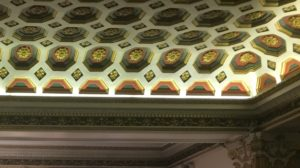 Photo of the ceiling of the Phoenix Theatre in London