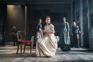 Production photo of hayley at well in Rosmersholm at Duke Of York's theatre in London May 2019
