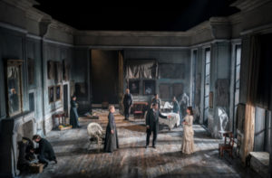 Production shot of Rosmersholm at the duke Of York's theatre in London