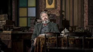 Production photo of Roger Allam in Rutherford And Son at the National Theatre London