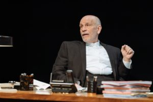 Production photo of John Malkovich in David Mamet's Bitter Wheat at the Garrick Theatre in London