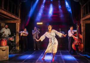 Production shot of Kimmy Edwards in Kiss Me, Kate at The Watermill Theatre