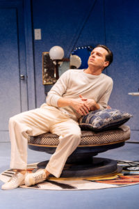 Production shot of Andrew Scott in Present Laughter at The Old Vic, London