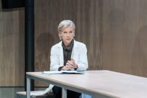 Production photo of Juliet Stevenson in The Doctor at the Almeida Theatre London