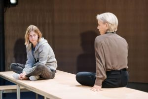 Production photo of Ria Zmitrowicz and Juliet Stevenson in The Doctor at the Almeida Theatre in London