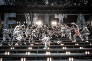 production photo of Evita at the Open Air Theatre in London