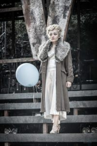 production photo of Frances Mayli McCann in Evita at Open Air Theatre