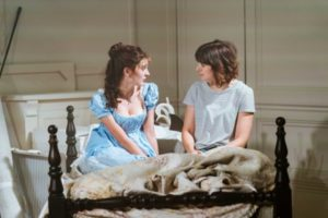 Production photo of Grace Moloney and Louise Ford in The Watsons at The Menier Theatre in London