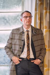 Production photo of Christopher Harper in touring production of Dial M For Murder