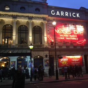 Exterior shot of The Garrick Theatre in London