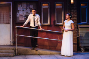Production photo of Emmet Byrne and Lily Nichol in Lorca's Blood Wedding retold by Barney Norris at Salisbury Playhouse