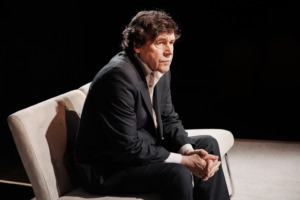 Production photo of Stephen Rea in Cypress Avenue at Royal Court Theatre in London 2019