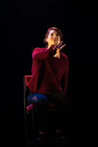 Production photo of Phoebe Waller-Bridge in the stage show of Fleabag at Wyndham's Theatre London