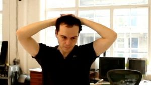 Frame from film of Sea Wall featuring Andrew Scott