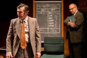 Production shot of Phil Daniels in the National Theatre production of This House