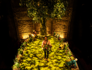 Set of Albion at The Almeida Theatre London, designed by Miriam Buether. Photo: Marc Brenner