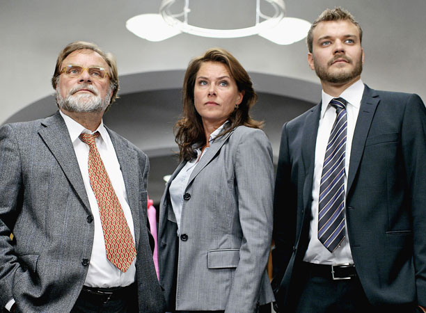 Members of the cast of TV seriesBorgen