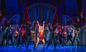 Production photo of Sutton Foster in Anything Goes at The Barbican Theatre London