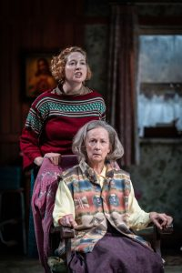 Production photo of The BEauty Queen Of Leenane at The Minerva Thetare Chichester showng Orla Fitzgerald and Ingrid Craigie