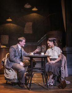 Production photo of Callum McIntyre & Laura Lake Abedisi in Brief Encounter at The Watermill Theatre in Newbury