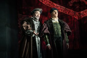 Production photo of Ben Miles and Nathaniel Parker in The Mirro And The Light at the Gielgud Theatre London